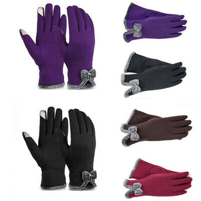 Women Winter Warm Touch Screen Full Finger Gloves Thermal Cycling Sports Mittens