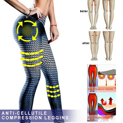 Womens Anti-Cellulite Compression Butt Lift Slim Leggings Gym Yoga Sexy Pants