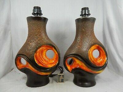 1 Paar / set of two Walter Gerhards 70´s Design Fat Lava Lampen / lamp bases