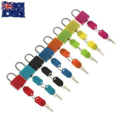 New 1PC Small Mini Strong Steel Padlock Travel Tiny Suitcase Lock with 2 Keys