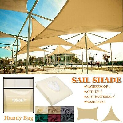 Sun Shade Sail Garden Patio Sunscreen Awning Canopy Cover 98% UV Block 7 Colors