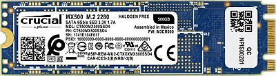 Crucial MX500 500GB 3D NAND SATA M.2 Type 2280 Solid State Drive CT500MX500SSD4