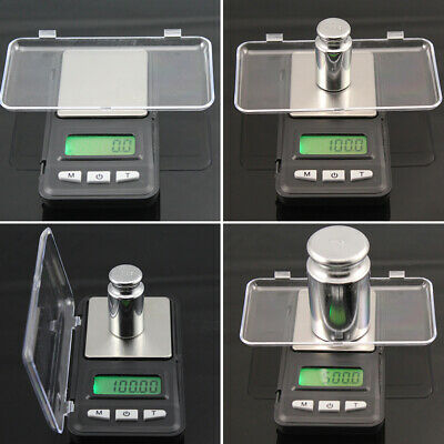 Digital Balance Weighing LCD Scale Jewelry Electronic Gram 0.1g/500g Portable