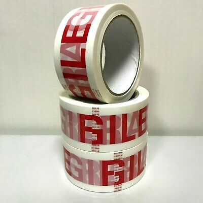 STRONG FRAGILE PACKING TAPE 48MM x 66M PARCEL TAPE SELLOTAPE