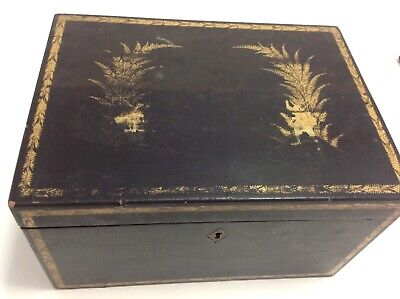 Stunning 19th Century Chinese Tea Caddy with Metal insert