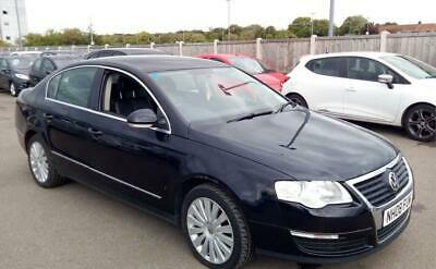 Volkswagen VW Passat Highline 2.0 TDI Manual Diesel Black 4 Door Saloon 2008 Reg