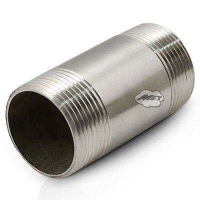"""3//8/"""" BSPT Close Taper Nipple X 25MM 316 Stainless Steel 150LB Pipe Fitting"""