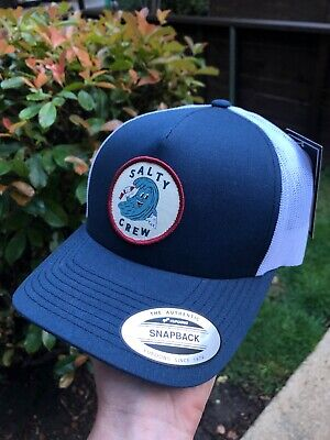 best sneakers 0c6d3 1e1ad NWT Salty Crew Ding Repair Retro Trucker Cap Navy White One Size New With  Tags