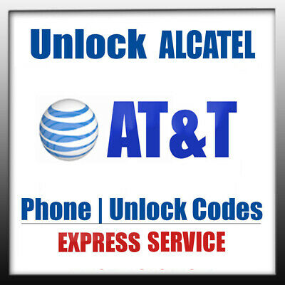 AT&T UNLOCK CODE ATT GOPHONE ALCATEL ONE TOUCH IDEAL XCITE 4G 5044r 4060A  CAMEOX