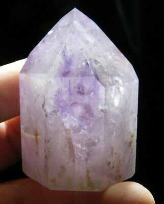 A Natural Light PURPLE!  Polished AMETHYST Crystal From Brazil 144gr e