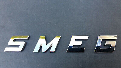 NEW GOOD QUALITY SMEG word / letters, 3D CHROME / SILVER, Self Adhesive.