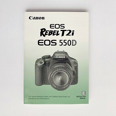 Canon EOS Rebel T2i 550D Camera Instruction Manual User Guide English Excellent