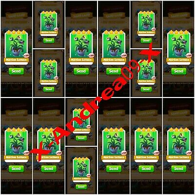 15 x Martian Lettuce Jackpot Pack :- Coin Master Cards ( Fastest Delivery )