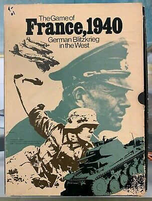 Avalon Hill WWII The Game Of France 1940 Box VG German Blitzkrieg In The West