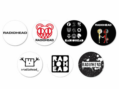 Lot Pack Badge Button Ø38mm Radiohead Band Groupe Rock UK