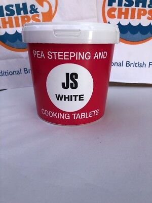 White Pea Steeping & Cooking Tablets - 160 Drywite JSW fish N chip Home Cooking