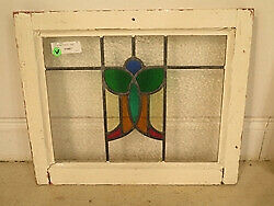 F41657: Original Antique Leaded & Stained Glass Window