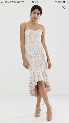 4a2901e1 ASOS RED CARPET Embellished Backless Strappy Midi Dress UK SZ 12 RRP ...