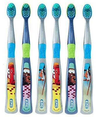 Oral-B Pro-Health Stages Disney Cars Manual Kid's Toothbrush, Pack of 6,
