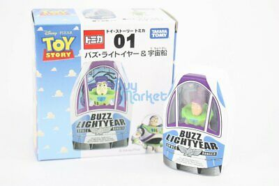 Disney Takara Tomy Tomica Toy Story No.1 Buzz and Space Ship Diecast Toy Car JP