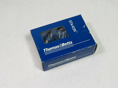 Thomas & Betts 14RB-14 Ring Pressure Terminal Connector Lot of 100 BLUE  NEW