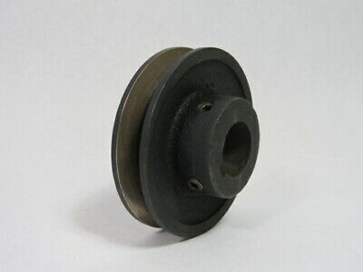 "Generic HA35 V-Belt Pulley 1"" Bore 1 Groove 3-1/2"" OD  USED"
