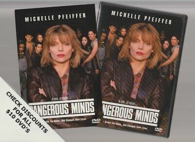 DANGEROUS MINDS DVD Horror Movie LIKE NEW WITH INSERTS MICHELLE PFEIFFER