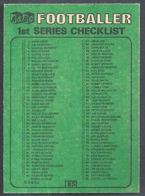A&Bc-Football Scottish 1970(Green Back 001-171)-#085- Unmarked Checklist