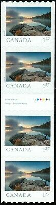 Canada sc#??? From Far and Wide 2019: Smoke Lake ON, Strip with Gutter, Mint-NH