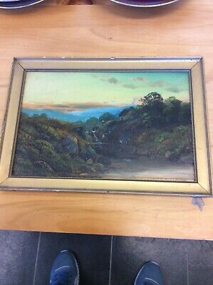 Old Vintage Oil painting, in a basic frame
