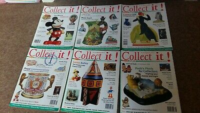 Collect It magazines x 6.  Issues 9/10/11/12/13/14