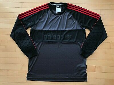 077a7c68da0 Adidas Climalite Goalie Mens Black Adults Football Goalkeeper Jersey Sz L  Mens