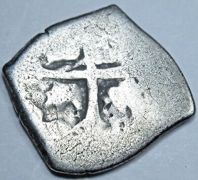 1600's Spanish Silver 1/2 Reales Piece of 8 Real Cob Old Pirate Treasure Coin