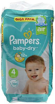 Pampers Baby-Dry Couches Taille 4 (8 - 16 kg) - Pack de 120)