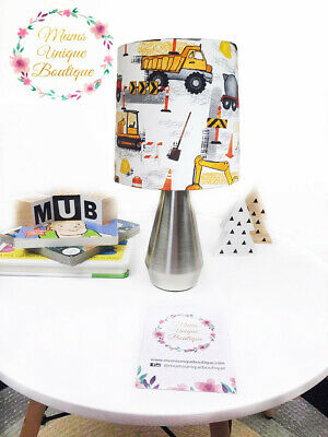 Construction Trucks Bobcat Children Nursery Table Lamp Night Light Touch Lamp