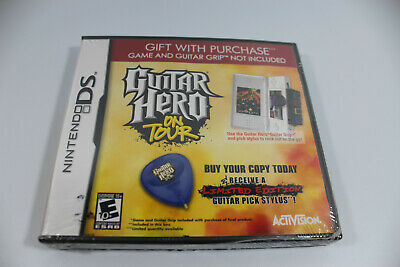 Guitar Hero On Tour Nintendo DS Software and Guitar Pick Stylus NEW SEALED
