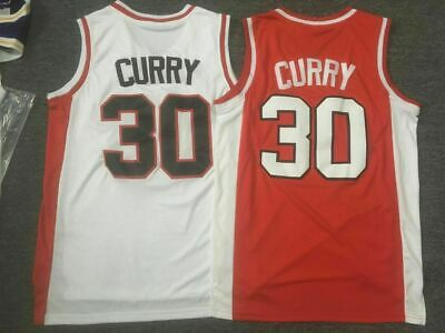 factory price 5f214 89043 NEW STEPHEN CURRY #30 Warriors Davidson College Throwback Basketball Jersey  Sti