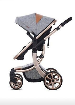 AIMILE Newborn Baby Pram Infant Foldable Anti-Shock High View Jogger Stroller