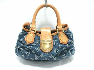 8f6d411a96fef Auth LOUIS VUITTON Pleaty M95020 Blue Monogram Denim VI1015 Handbag