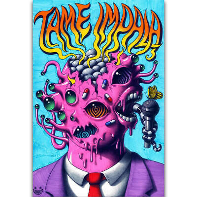 J-567 Tame Impala Psychedelic Rock Music Band Tour Cover Custom Poster Art Print