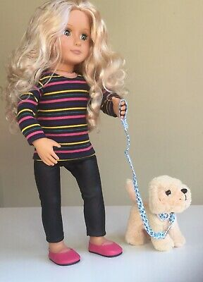 """Fit American Girl And Our Generation  Top, Leggings + Shoes 18"""" Doll Clothes."""