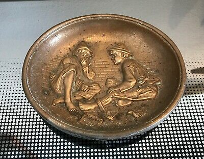 Antique French Bronze Dish Depicting Boys