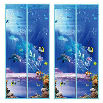 Magnetic Hands Free Mosquito Bug Fly Insect Screen Magic Curtain Door Mesh Net