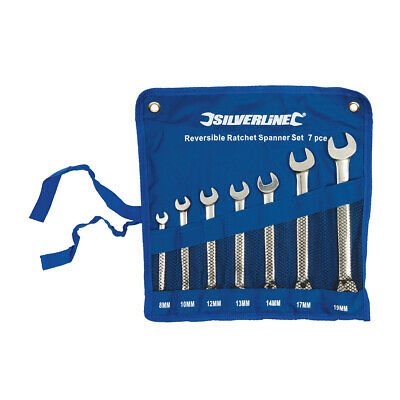 Silverline 419448 | Reversible Ratchet Spanner Set 7pce