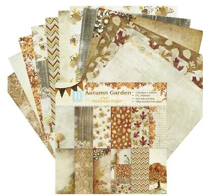 24X Craft Paper Vintage Scrapbook Card Art Photo Album Origami  Autumn Garden