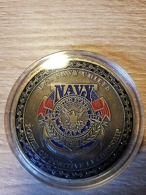 Massiver Navy Chiefs Challenge Coin ....