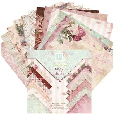 24X Craft Paper Vintage Scrapbook Card Art Photo Album Origami  Lovely Garden