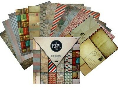 24X Craft Paper Vintage Scrapbook Card Art Photo Album Origami Postal Service