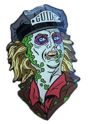 """Beetlejuice Ghost With The Most 1"""" Tall Enamel Metal Pin"""