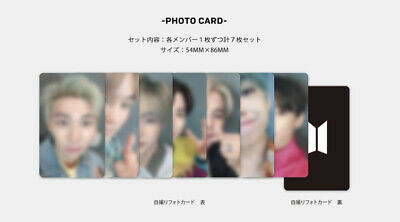 Bts Lights / Boy With Luv  - Japan Edition - Fanclub Edition Photocards